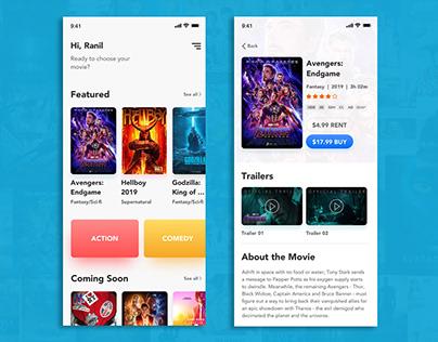 Movie app design - iOS