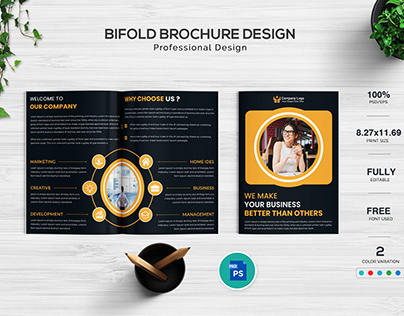 Business Bi-fold Brochure Design