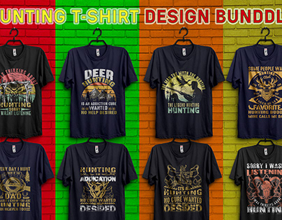 There are a custom hunting t-shirt design.