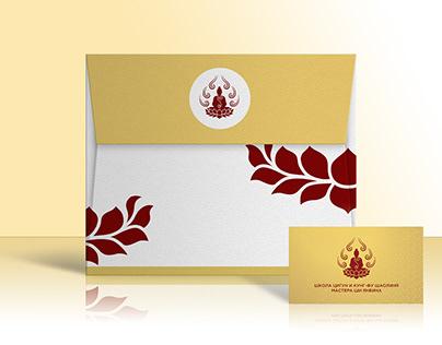Школа Мастера Ши Янбина: визитка и фирменный стиль