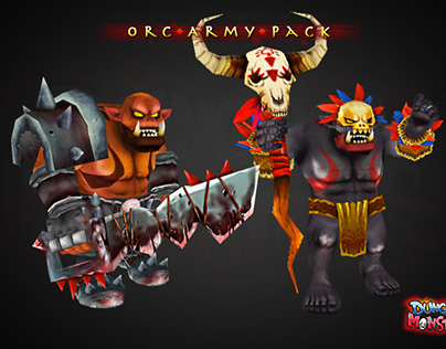 Orc Army Pack - 3D Model.