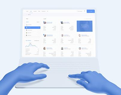 Dashly - freelance agency dashboard