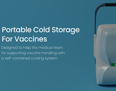 Portable cold storage for vaccines