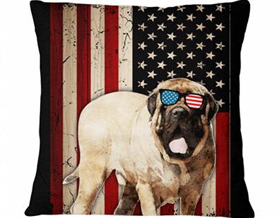 Patriotic Mastiff Sunglasses American Flag Dog Breeds