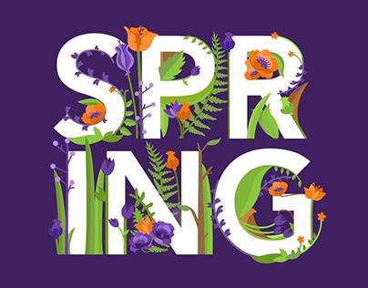 Spring Lettering