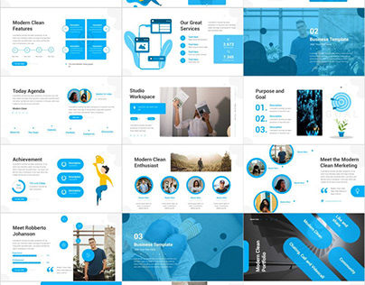 BLUE BUSINESS PROJECT POWERPOINT