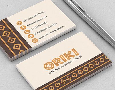 Identidade Visual para a Editora Oriki