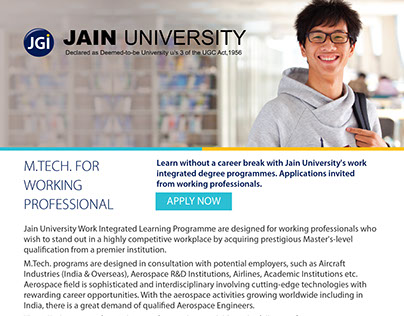 Mailer for Jain University