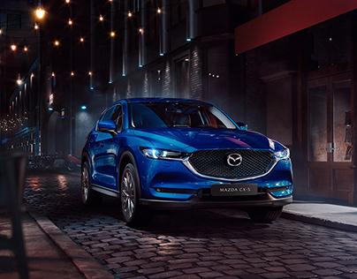 Mazda CX-5 under the lights