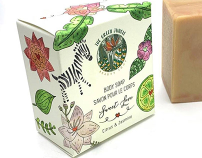 Soap Package Design for The Green Jungle