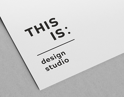 Studio THIS IS branding design