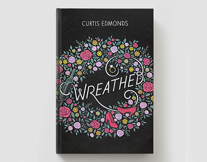 """Wreathed"" Chalkboard Book Cover"