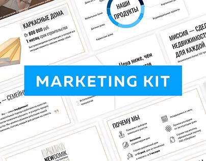 """Marketing Kit for Construction Company """"NewDomik"""""""