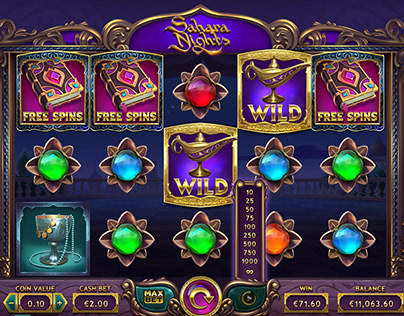 Slots. Sahara Nights. UI Design