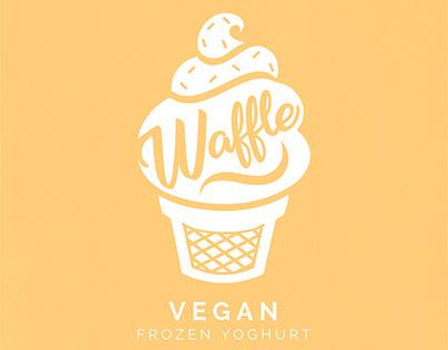 Waffle Vegan Frozen Yoghurt