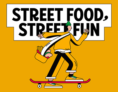 Street Food, Street Fun.   Iron Steak