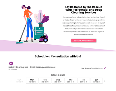 Cleaning Services Website - Wordpress