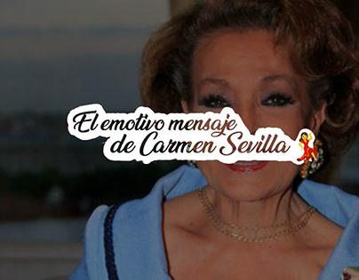 El emotivo mensaje de Carmen Sevilla