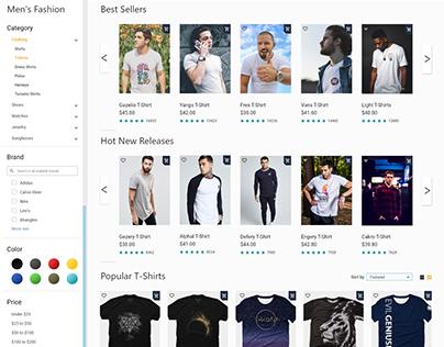 Ecommerce UI/UX Series Update Fashion Men - T-Shirts