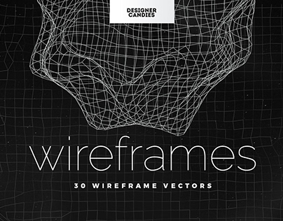 Wireframe Vectors Pack By: Designer Candies
