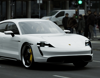 Porsche Taycan Turbo S + 3D model