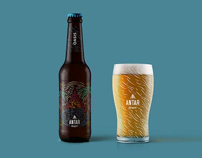 Antar Brewery. Branding, Labels & Beer can