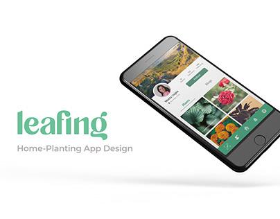 Leafing- Home Gardening App Design