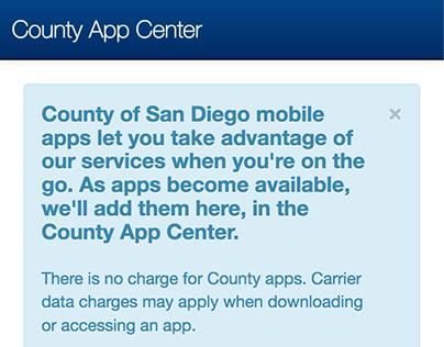 County of San Diego App Center