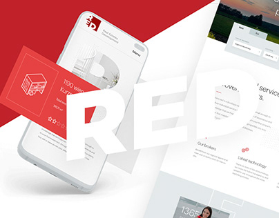 Real estate website redesign - Immo Red