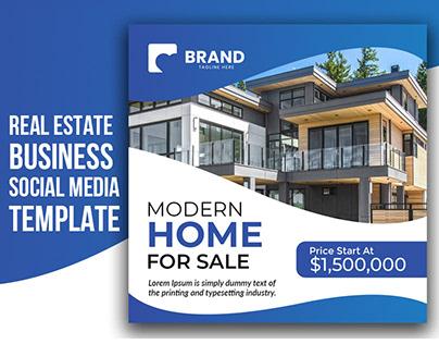 Real estate Business Social Media Post Template