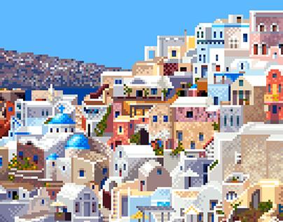 Pixel Santorini