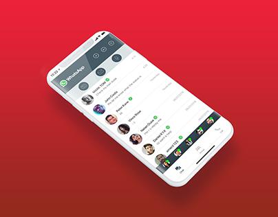 whatsApp -redesign