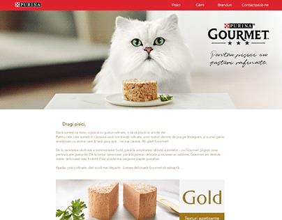Web Design - Purina Gourmet cat food