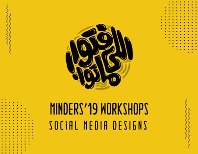Minders' 19 Workshops | Social Media designs