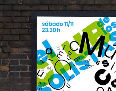 Ochava Roma - Sistema de afiches tipográficos