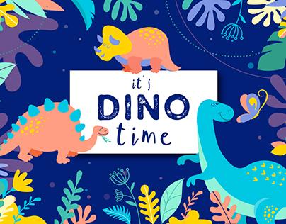 Dinosaurs set of illustrations