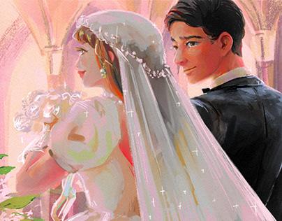 "Painting practice ""Wedding"""