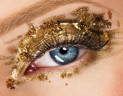 Beauty Gold Eye - Emilie Desmeules Art