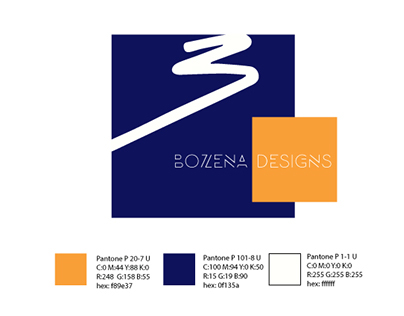 Bozena Designs Logo Redesign