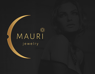 MAURI, logotype for a jewelry store