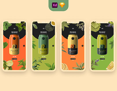 Marrakeshi Iced Tea Drinks Shop Ui Ux app