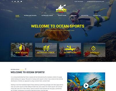 Ocean Sports Website UI Design