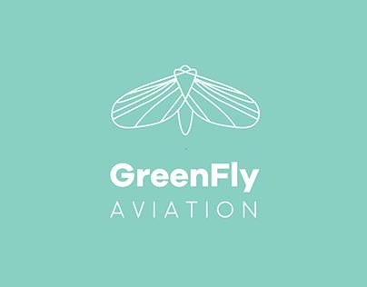 Branding and logo design for GreenFly Aviation