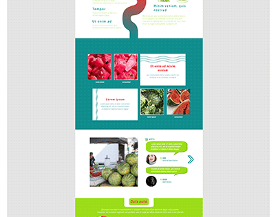 One page watermelon business website.