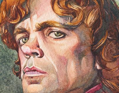 Watercolor portrait. Tyrion.