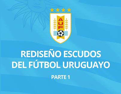 REDISEÑO ESCUDOS DEL FÚTBOL URUGUAYO