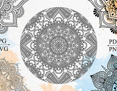 Mandala Coloring Book for Kdp