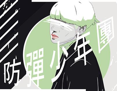 Illustration : BTS (방탄소년단) Banner