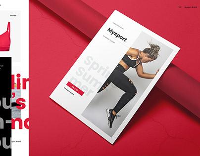 Mysport Creative Sports Lookbook and Linesheet Template