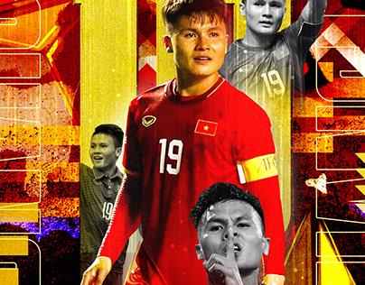 VN National U-23 Football Team Poster | Christ Design